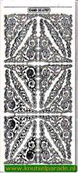 Stickervel hoekjes/rand transparant zilver MD 35 67 57 (Locatie: ZZ018 )