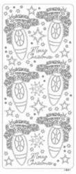 Stickervel Kerstballen goud 20380/1891 (Locatie: H436 )