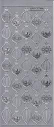 Stickervel kerstballen zilver MD357005 (Locatie: e066)