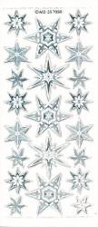 Stickervel kerststerren mix transparant zilver MD357050 (Locatie: U051)