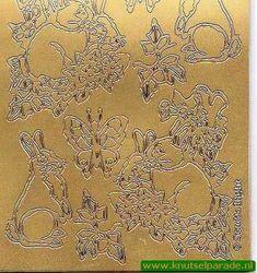 Stickervel pasen goud NSS 06 (Locatie: 4743)