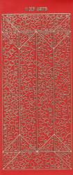Stickervel rood/goud XP6873 (Locatie: K087)