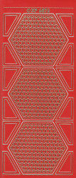 Stickervel rood/goud XP6876 (Locatie: K097)