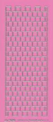 Stickervel roze/zilver 3020 (Locatie: K147)