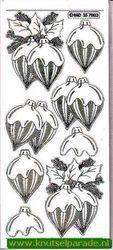 Stickervel transparant zilver kerst MD 35 70 83 (Locatie: ZZ007 )