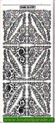 Stickervel transparant zilver MD356757 (Locatie: ZZ018)