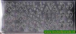 Stickervel zilver kerst 1653 (Locatie: ZZ096 )