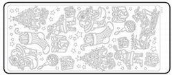 Stickervel zilver kerst diversen 20380/1866 (Locatie: Q116 )