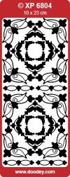 Stickervel zwart / goud holografisch XP6804 (Locatie: B129)