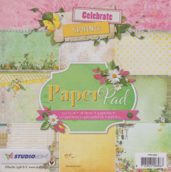 Studio Light Celebrate Spring PaperPad, 36 vel 9 designs, 15x15cm, PPCS51