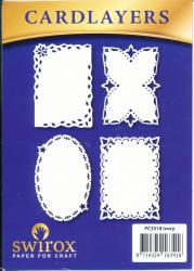Swirox oplegkaarten ivoor vier stuks PC3518 (Locatie: M82)