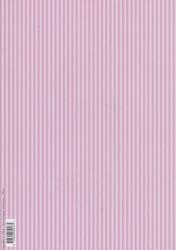 Tierelantijntje achtergrondpapier roze gestreept A4 3345 (Locatie: 1409)
