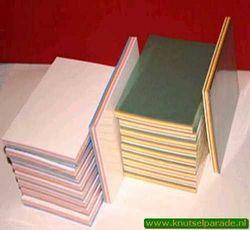 Top Hobby lederlook papier 5 kleuren 50 vel A5 nr. KB 118 (Locatie: S2)