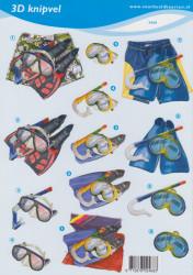 Voorbeeldkaarten knipvel snorkelen 2468 (Locatie: 4601)