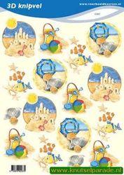 Voorbeeldkaarten knipvel vakantie 2287 (Locatie: 5566)