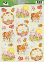 Voorbeeldkaarten merel design dieren 2382 (Locatie: 6629)