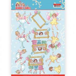 Yvonne Creations Bubbly Girls knipvel verjaardag CD11476 (Locatie: 2416)