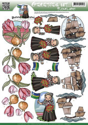 Yvonne Creations knipvel groetjes uit flevoland CD10502 (Locatie: 2534)