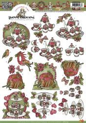 Yvonne Creations knipvel kerstmis diner CD10214 (Locatie: 2586)