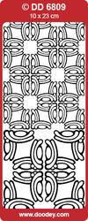 Stickervel hoekjes zilver nr. DD 6809 (Locatie: E125 )