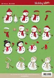 Hobby Idee knipvel kerst HI-0029 (Locatie: 0931)