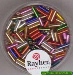 Rayher stiftkralen 7/2 mm assortiment met zilverdetail 15 gr. 1406549 (Locatie: 3GL6 )
