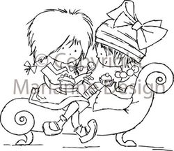 Marianne design Clear stamp Daisy's birthday DDS3308 (Locatie: U357 )