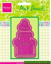 Marianne Design pink stencils PK 9001 (Locatie: D04 )