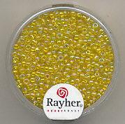 Rayher rocailles 2 mm transp. geel 17 gr. 1406120 (Locatie: K3)