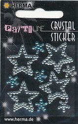 Herma stickers crystal sterren zilver en blauw 1 vel 15388 (Locatie: U192)
