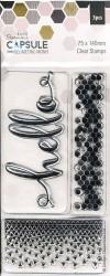 Docrafts Papermania Capsule Geometric Mono Clear Stamps 3 stuks (Locatie: NN017)