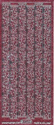 Starform stickervel bloemslingers glitter roze 7045 (Locatie: U045)