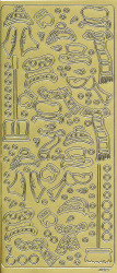 Stickervel goud winter 4877 (Locatie: e114)