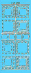 Stickervel blauw hoeken XP6927 (Locatie: f126)