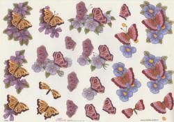 Mireille knipvel vlinders en bloemen E160 (Locatie: 1240)