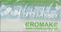 Romak bedrukt organza lint its's a boy 02 205 28 * (Locatie: k3)
