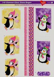 3D glamour stansvel pinguïn 1 (Locatie: 5919)