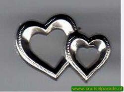 Rayher hartjes zilver per stuk 22mm nr. 1515822 (Locatie: )