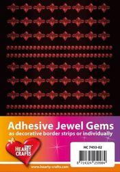 Adhesive Jewel Gems zelfklevende strips rood HC 7453 02 (Locatie: 1F )