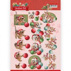 Amy Design knipvel kerstmis huisdieren CD11528 (Locatie: 5019)