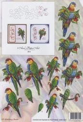 Ann's Paper art knipvel vogel en borduurpatroon 3DSS 10014 (Locatie: 2339)