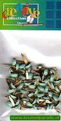 Brads rond pastel groen 50 stuks 10829/17 (Locatie: 1A )