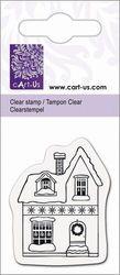Cart-Us clear stamp huisje met sneeuw 2118831096 (Locatie: NN255 )