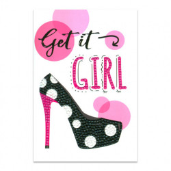 Craft Artist Diamond Art Card Kits - Get it Girl (Locatie: 2575)