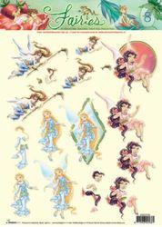 Disney Fairies - 3DA4 Stap voor Stap Knipvel STAPDF08 (Locatie: 1740)