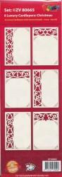 Doodey set van 6 oplegkaarten kerstmis en 2 knipvellen ZV80665 (Locatie: 4423)
