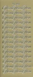 Doodey stickervel goud menu DD1227 (Locatie: f024)