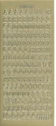 Doodey stickervel letters goud DD1551 (Locatie: u245)