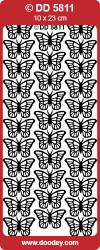 Doodey stickervel vlinders multicolor DD5811 (Locatie: f117)