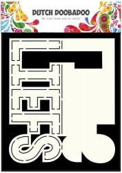 Dutch Doobadoo Card Art Text 'Liefs' A5 stencil 470.713.640 (Locatie: 1347)
